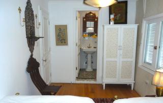 Privé badkamer aan boord van de Dahabiya