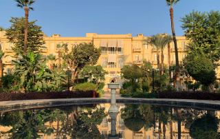 Tuin van het Old Winter Palace Hotel - Oostoever Luxor