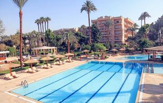 Zwembad van het Pavillon Winter Hotel - Oostoever Luxor