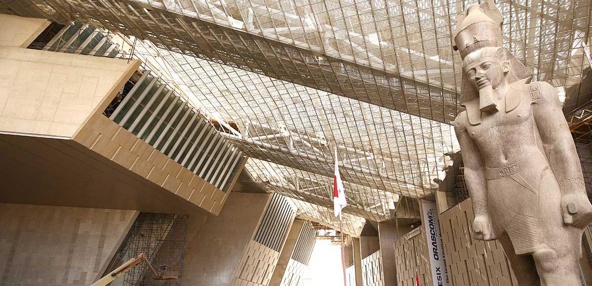 Het nieuwe Grand Egyptian Museum in Cairo