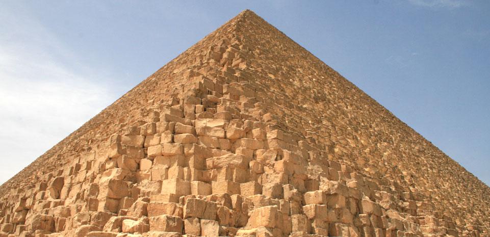Piramide van Cheops bij Gizeh