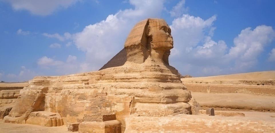 De Sfinx bij Gizeh