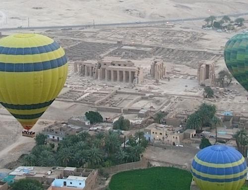 Ballonvaart Luxor boven de monumenten van Thebe